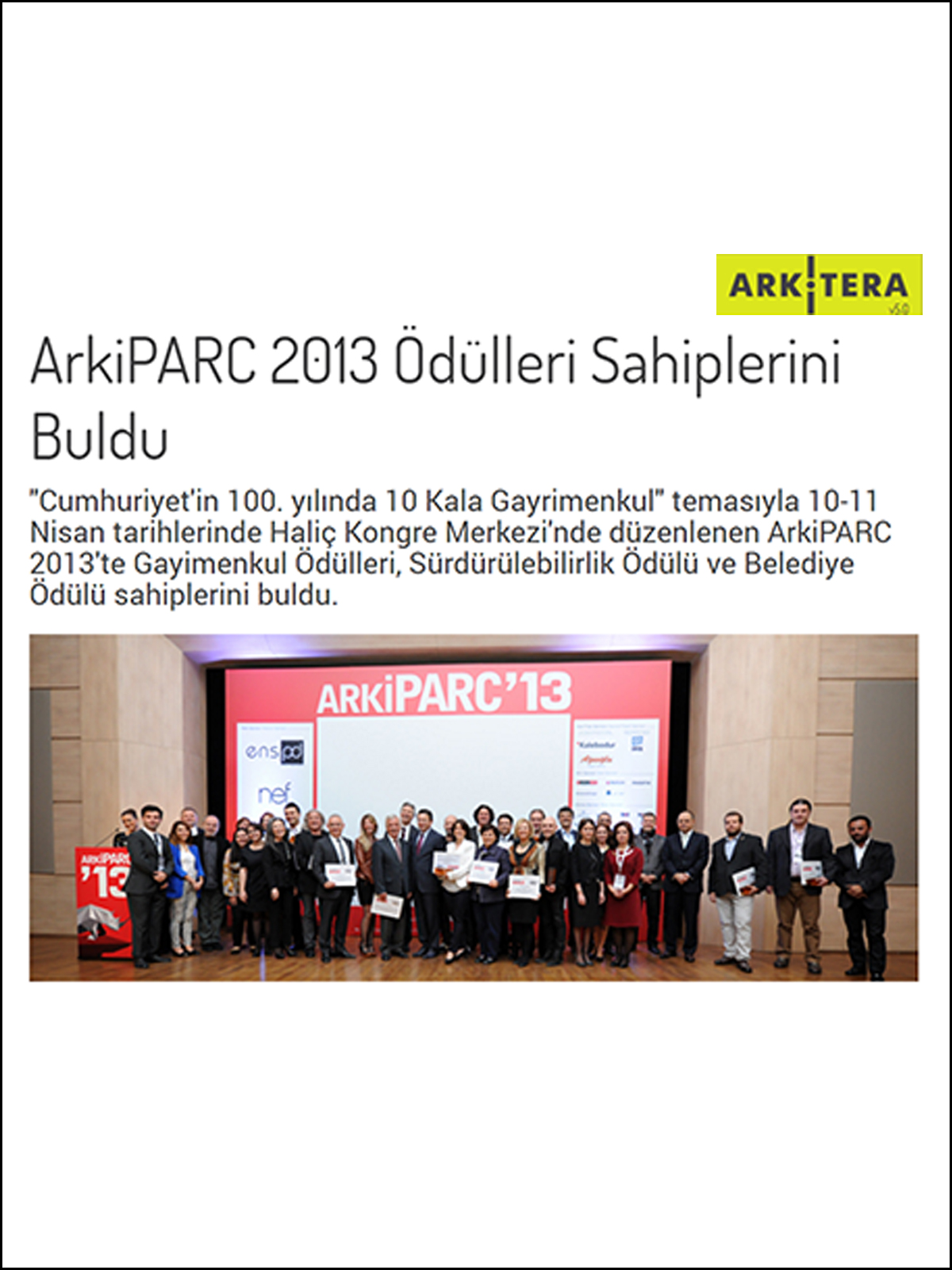 ArkiPARC  Awards